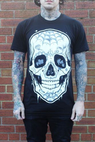 The Wandering Candy Skull T-Shirt - Medium